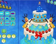 Queen Elsa cake decor ingyen j�t�k